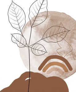 Plakat krajobraz i liście