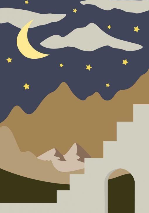 Plakat górskie wierzchołki