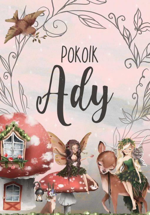 Plakat imienny dla dziewczynki - Leśne elfy