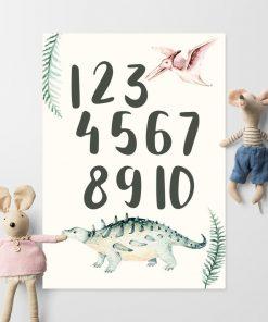 Cyfry jako plakat dziecięcy