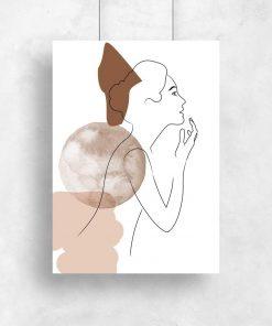 Plakat kobieca postać - szkic