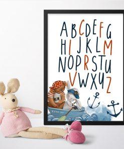Edukacyjny plakat marynarski