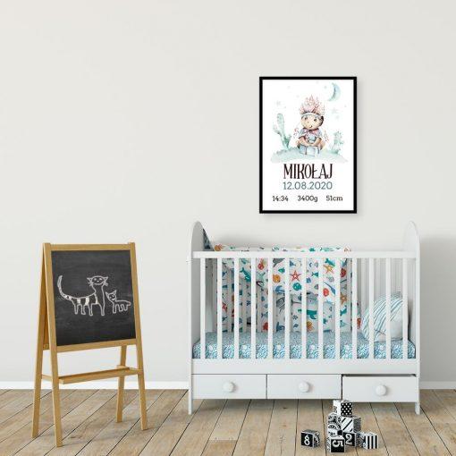 Bajkowy plakat - metryczka dla przedszkolaka