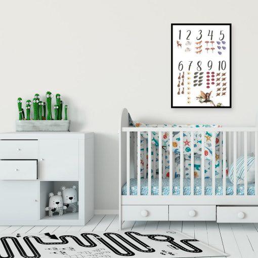 Plakat do nauki liczenia dla dzieci