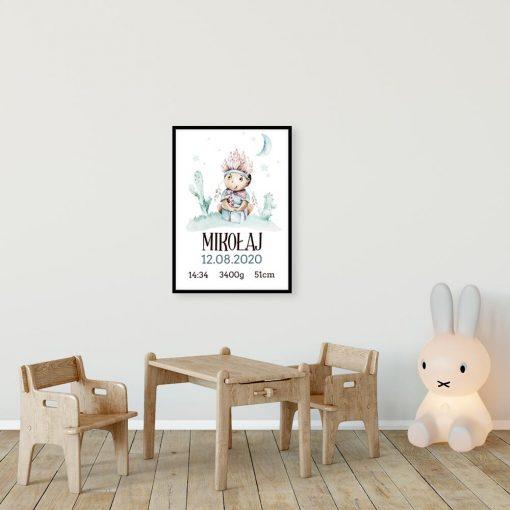 Bajkowy plakat - metryczka dla niemowlaka