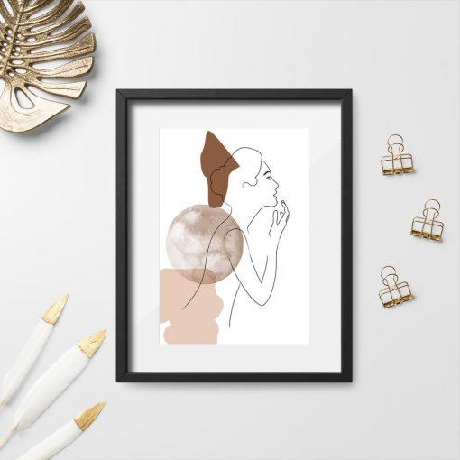 Plakat z kobietą do powieszenia w sypialni