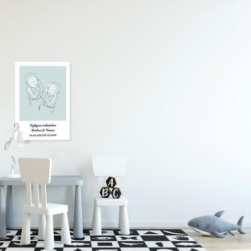 Plakat do dekoracji dziecięcego pokoiku z napisem i dziećmi