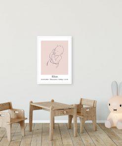 Dziecięcy plakat minimalistyczny z imieniem do pokoju przedszkolaka