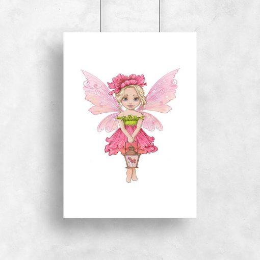 Plakat dla dziewczynki - Leśna księżniczka