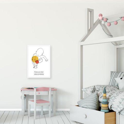 Nowoczesny plakat dziecięcy z imieniem dla przedszkolaka
