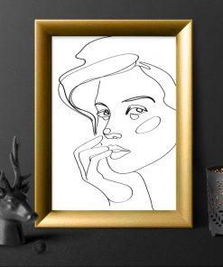Plakat dziewczyna - studium twarzy