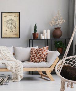 Poster dla wynalazcy - Astronomiczny globus do sypialni