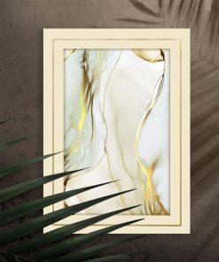 Plakat z transparentną abstrakcją