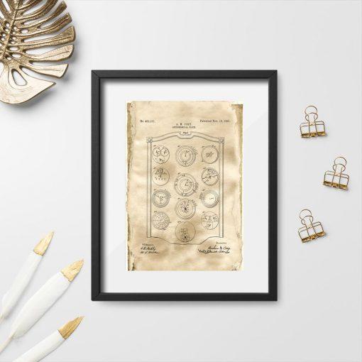 Zegar astronomiczny - sepia