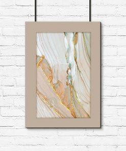 Marmur - wielobarwny plakat