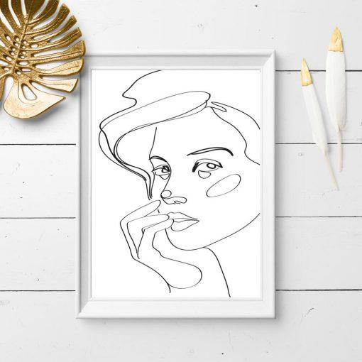 Plakat do salonu z podobizną kobiety