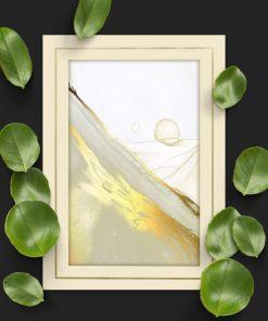 Plakat beżowo-złoty