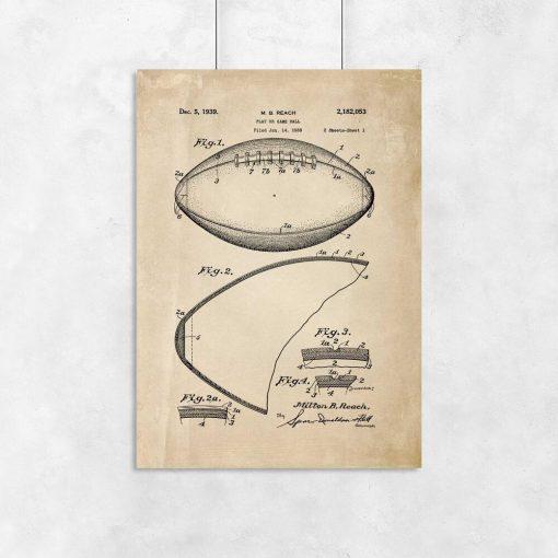 Plakat z rysunkiem patentowym - piłka