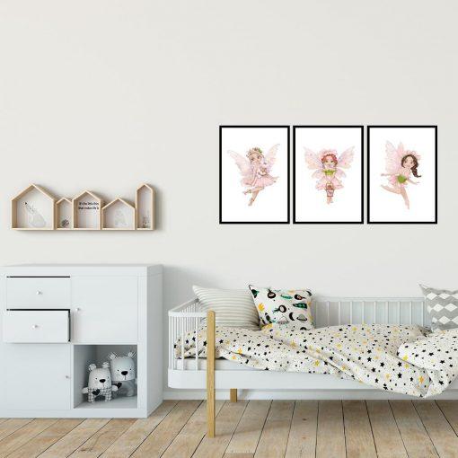 Ozdoba dziecięca - plakat z wróżkami