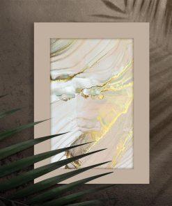 Poster ze złotem i turkusem