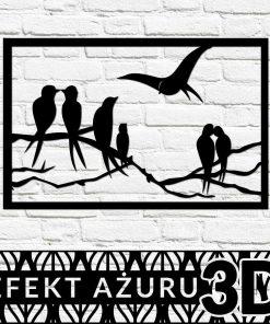 Romantyczne ptaki - przestrzenna dekoracja