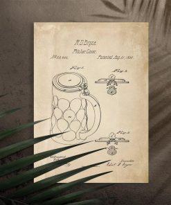 Plakat w sepii z osłonką na kufel
