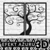 Drzewo na panelu dekoracyjnym 3d