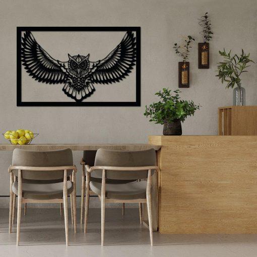 Dekoracyjny panel przestrzenny z sową