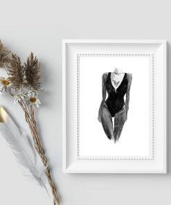 Plakat z dziewczyną w stroju kąpielowym