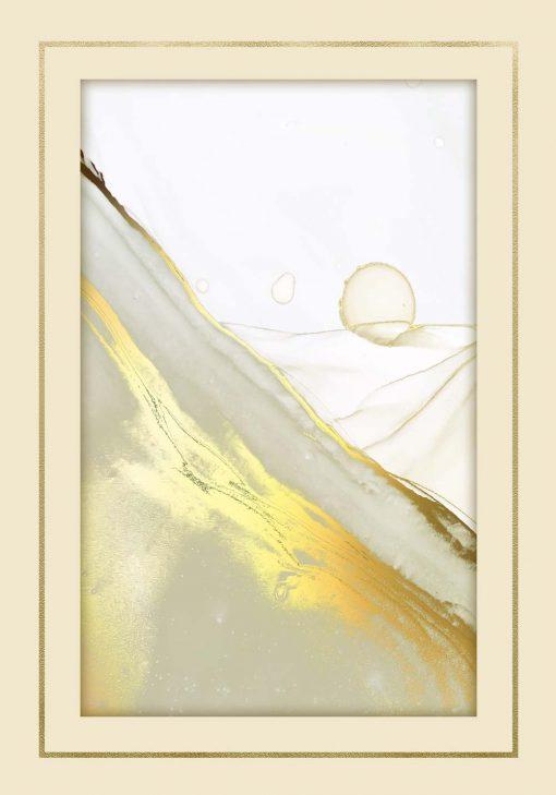 Marmurowy plakat ze złota smugą
