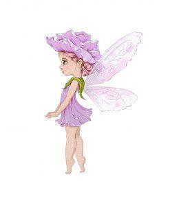 Plakat do przedszkola z leśnym liliowym elfem