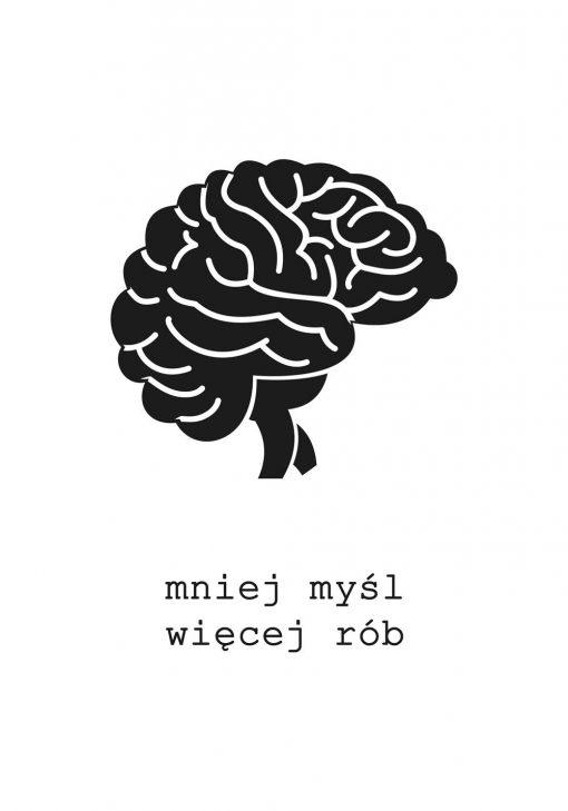 Motywacyjny plakat z mózgiem do gabinetu
