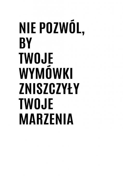 Plakat czarno-biały z typografią