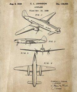 Samolot jednopłatowy na plakacie