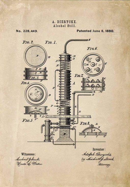 Patent na maszynę do alkoholu