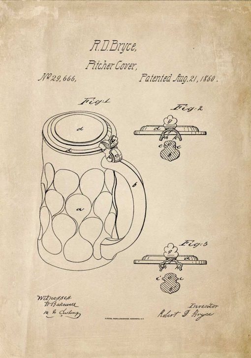 Plakat retro z pitcher cover