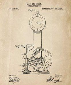 Plakat z rowerkiem treningowym