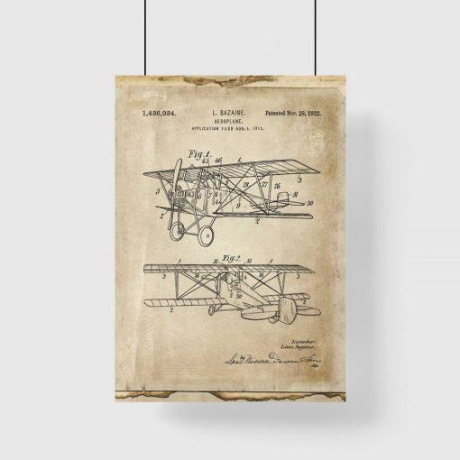 Plakat projekt pierwszego samolotu
