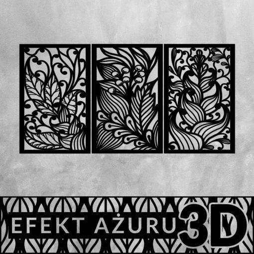 Piękna dekoracja 3d z bujną roślinnością
