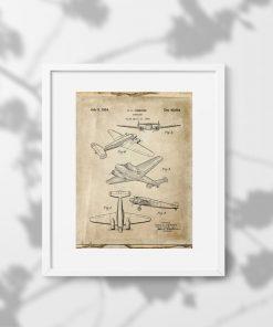 Plakat samolot dwusilnikowy pasażerski