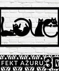 Ażurowa dekoracja ścienna - koty