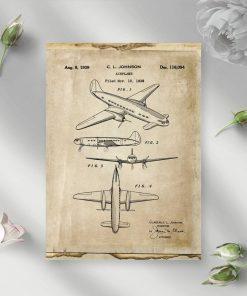 Projekt samolotu na plakacie