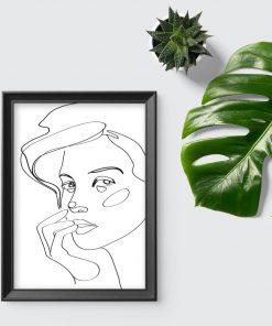 Plakat minimalistyczny z portretem