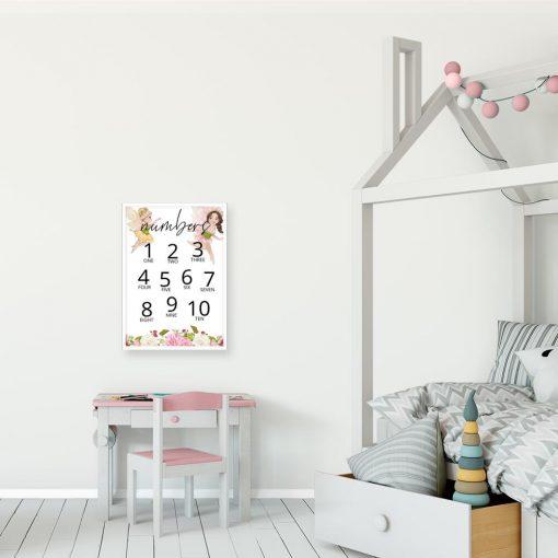 Barwny plakat dla przedszkolaka - Numbers