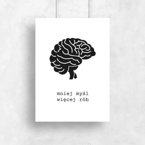 Motywacyjny plakat z mózgiem