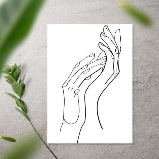 Plakat kobiece ręce