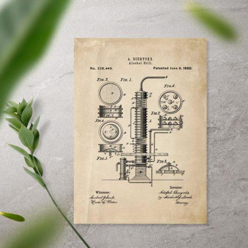 Afisz z patentem na maszynę