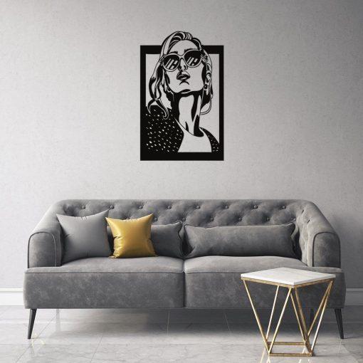 Kobieta na obrazie - dekoracja 3d