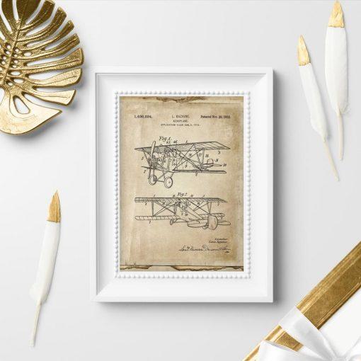 Plakat rycina z koncepcją samolotu