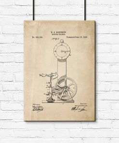 Plakat schemat budowy bicycle trainer